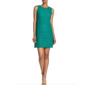 Eliza J Green Lace Overlay Sleeveless Dress 20 NWT